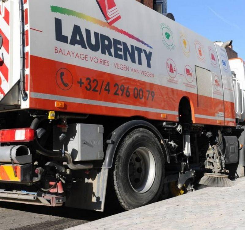 Service de balayage de voiries - Laurenty Group