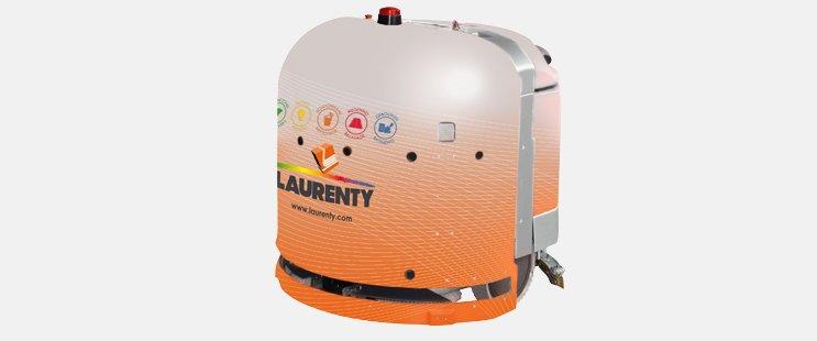 Premier robot d'assistance au nettoyage - Laurenty