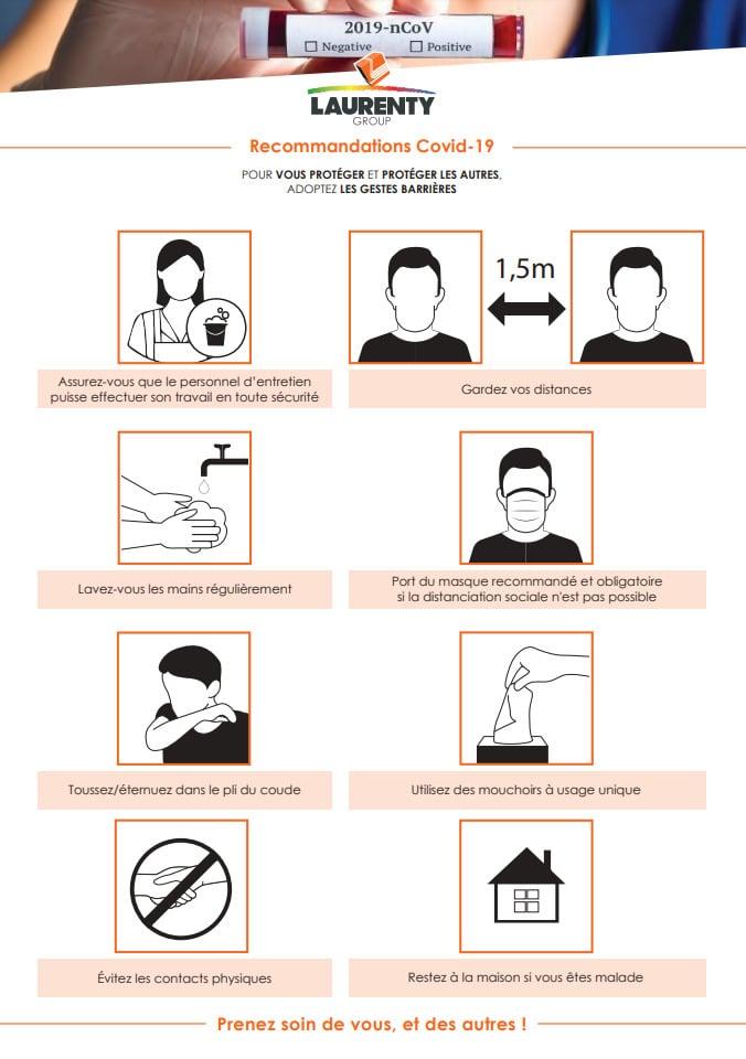Gestes barrières - Recommandations Covid 19