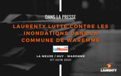 Laurenty lutte contre la croissance du nombre d'inondations dans la commune de Waremme